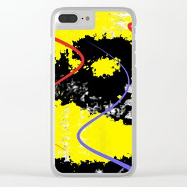 Abstraction Boulevard Clear iPhone Case