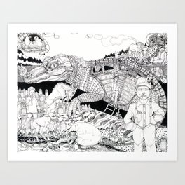 The Harrowing  Story of Child Miners in the Early 1900's Art Print