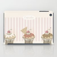 cupcakes iPad Cases featuring Cupcakes by Cecilia Sánchez
