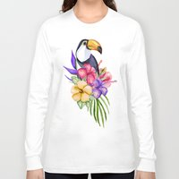 toucan Long Sleeve T-shirts featuring Toucan by Julia Badeeva