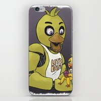fnaf iPhone & iPod Skins featuring FNAF Chicas by msaibee