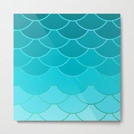 Sky Blue Scales Metal Print