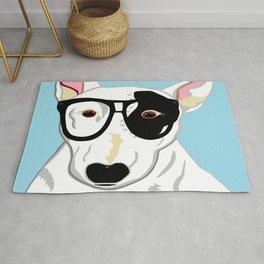 Hipster Bull Terrier Rug