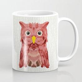 Whimsical Strawberry Owl Coffee Mug