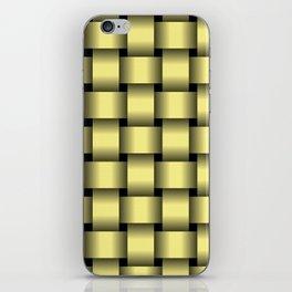 Large Khaki Yellow Weave iPhone Skin