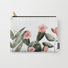 Watercolor Cactus Floral Carry-All Pouch