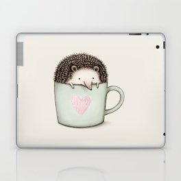 Hedgehog in a Mug Laptop & iPad Skin