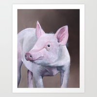 piglet Art Prints featuring Piglet by LouiseDemasi