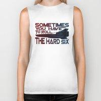 battlestar Biker Tanks featuring Hard Six by Stuckey