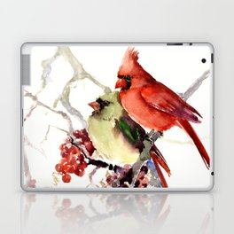 Cardinal Birds, birds art, two bird artwork cardinal bird Laptop & iPad Skin