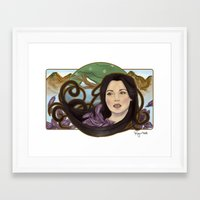 regina mills Framed Art Prints featuring regina nouveau by raynall