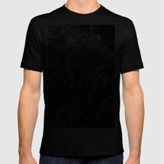 Purple Branches MEDIUM Mens Fitted Tee Black