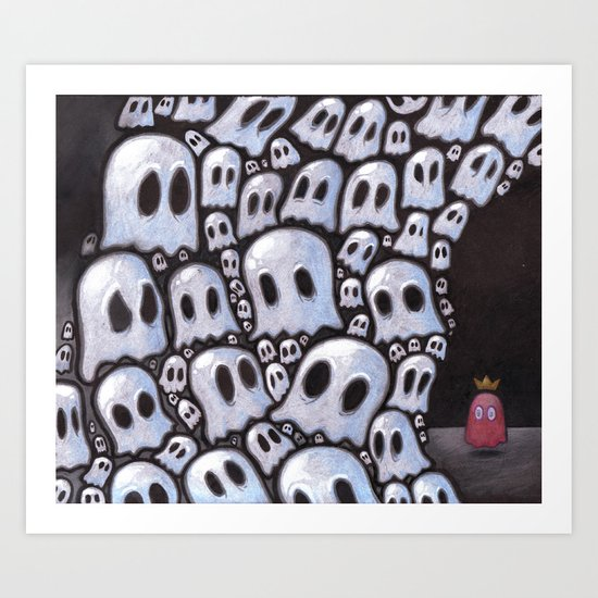100 ghosts Art Print