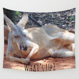 What's Up? Kangaroo Wall Tapestry
