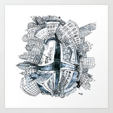 The City Bean  Art Print