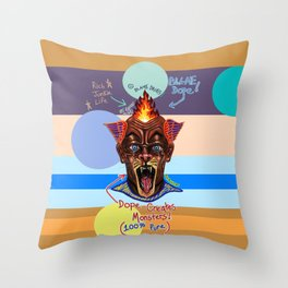 Dope Creates Monsters Uncut Throw Pillow