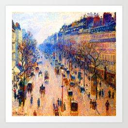 Camille Pissarro Boulevard Montmartre Winter Art Print