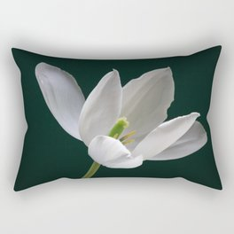 White Tulip Minimalism 1 Rectangular Pillow