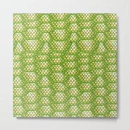 Green Snake Skin Pattern Metal Print