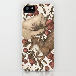 Coyote Love Letters iPhone Case