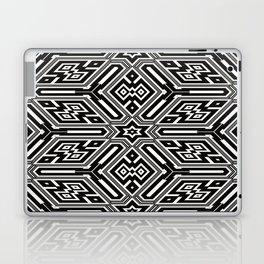 grid black white 3 Laptop & iPad Skin