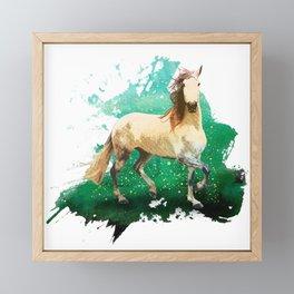 The wonderful horse Framed Mini Art Print