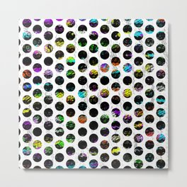Distressed  Colorful Spots Metal Print