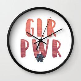 GLR PWR Wall Clock
