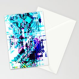 circuit board blue Stationery Cards