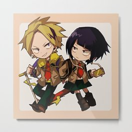 Katsuki and Jirou Metal Print