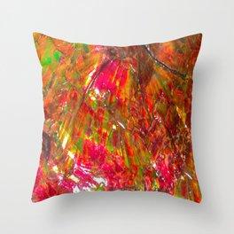 Tropical Sunset Ammolite Throw Pillow