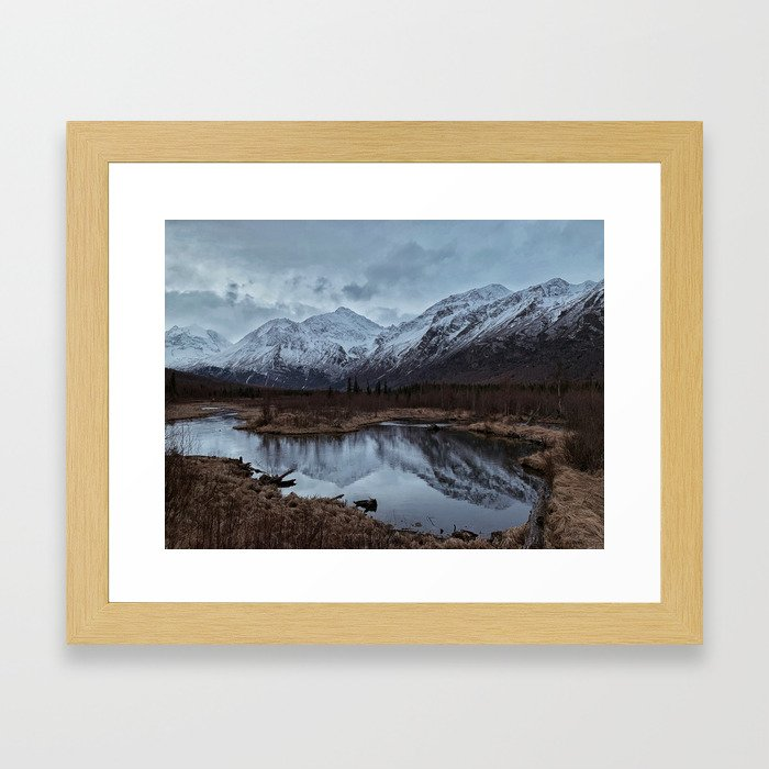 Into The Mountains Framed Art Print
