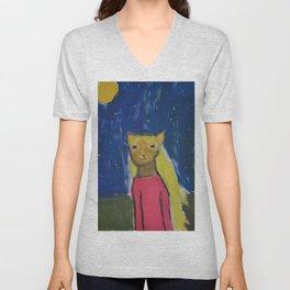Catgirl Unisex V-Neck