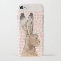 hare iPhone & iPod Cases featuring Hare by stephanie cole DESIGN