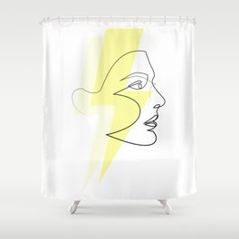 Decade Dance - one line energy Shower Curtain