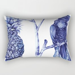 Pineapple and Bird Rectangular Pillow