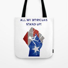 Boricuas Stand Up Tote Bag