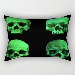 Skull quartet green Rectangular Pillow