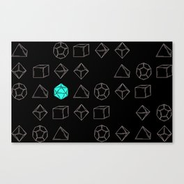Dungeons and Dragons Dice Canvas Print