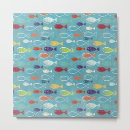 Fish poissons 100 Metal Print