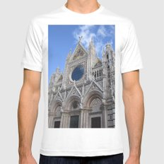 Siena Cathedral Mens Fitted Tee White MEDIUM
