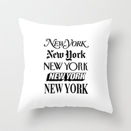I Heart New York City Black and White New York Poster I Love NYC Design black-white home wall decor Throw Pillow
