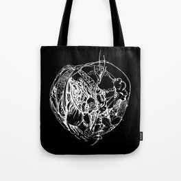 Heart of Chaos negative Tote Bag