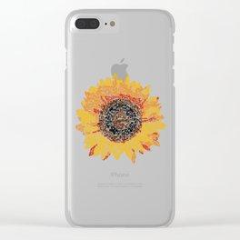 Kanji calligraphy art :Sunflower Clear iPhone Case