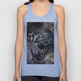 Marble Paint Swirl Trendy Abstract Glitter Rose Gold Pink Teal Turquoise Unisex Tank Top