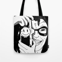 harley Tote Bags featuring Harley by Milla Mortyr