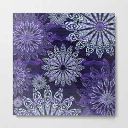 Ice Crystal Bliss Metal Print