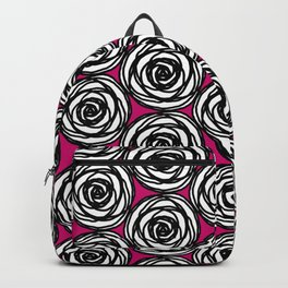 Black and White Rose Backpack