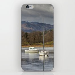 Windermere lakes and boats landscape iPhone Skin
