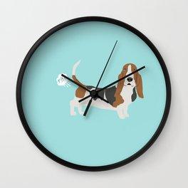 Basset Hound dog breed funny dog fart Wall Clock